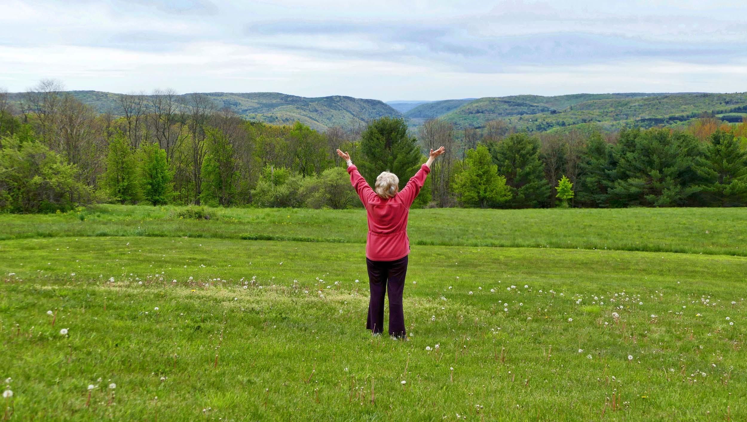 alice mcdowell standing in field