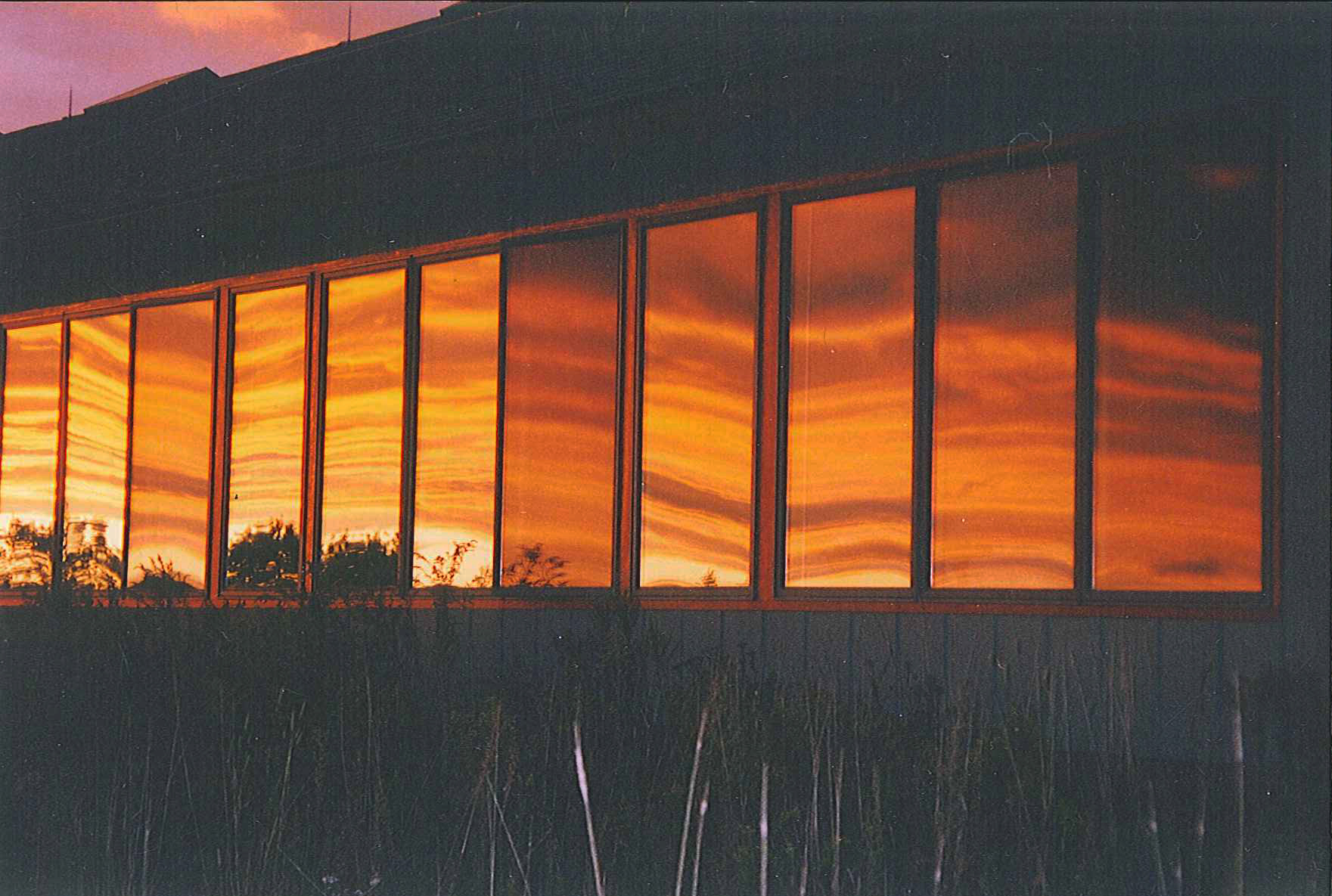 Sunset-Reflected-in-Lodge-Windows