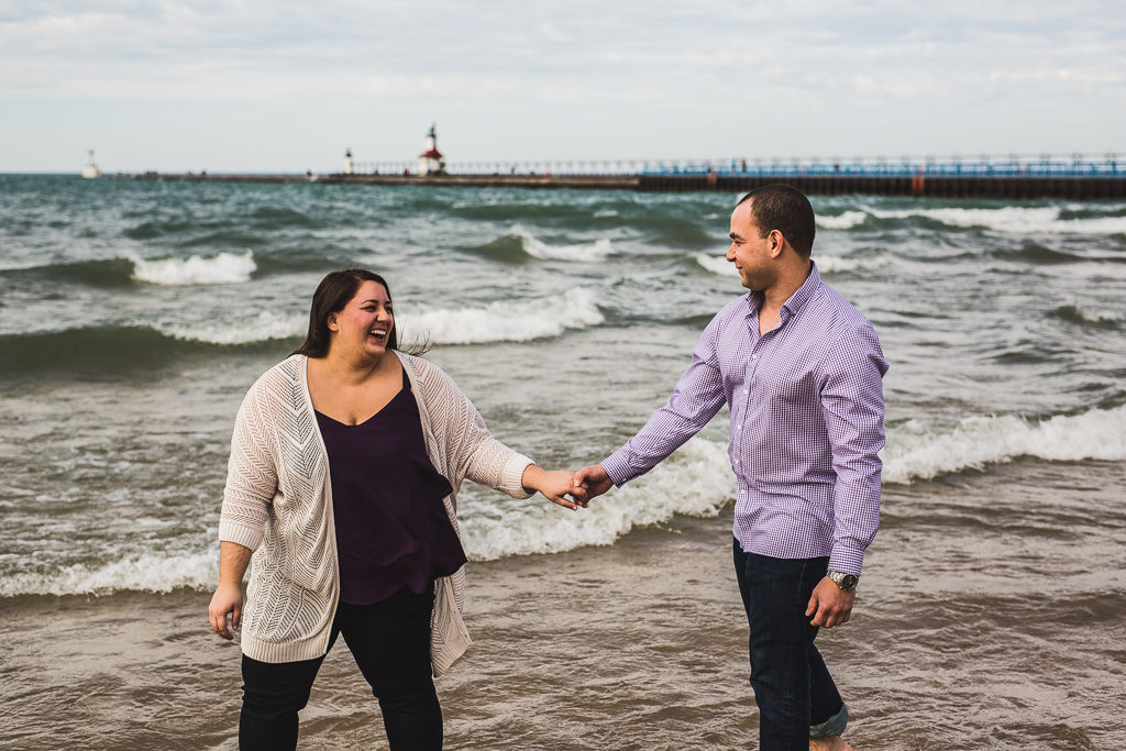 St. Joseph, Michigan Engagement: Megan + Mike