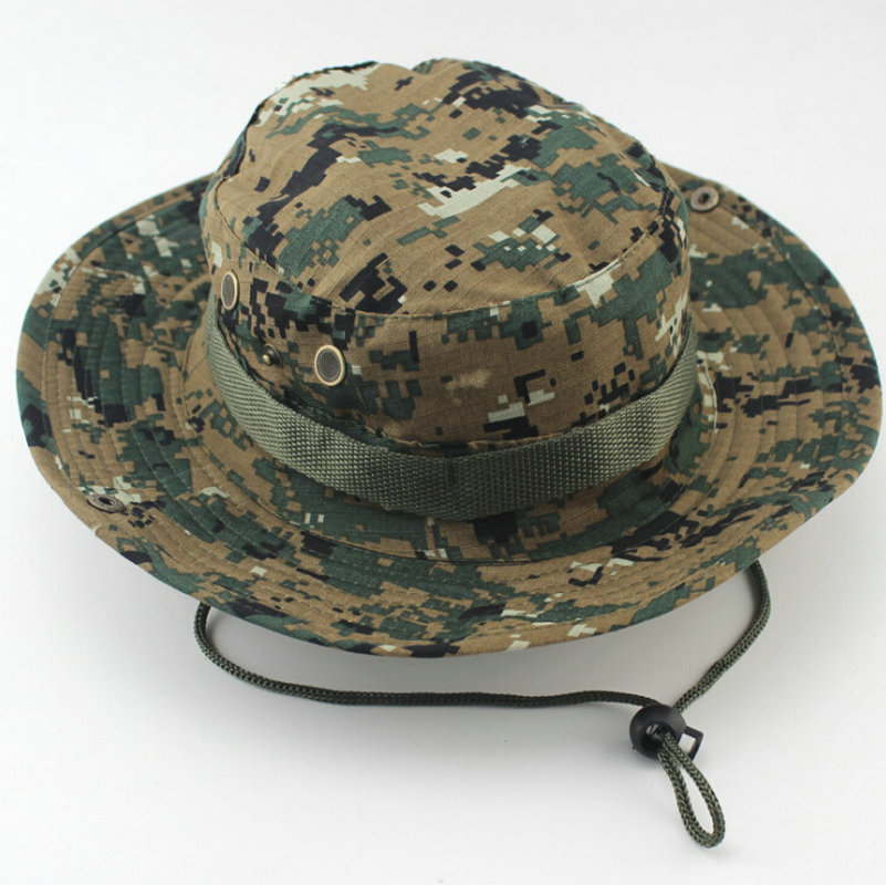 Outdoor sports hunting fishing boonie hat camouflage for Camo fishing hat