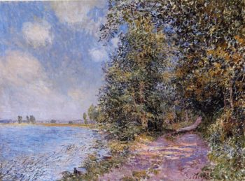 An August Afternoon near Veneux  1881 | Alfred Sisley | Oil Painting