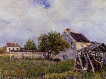 An Old Cottage at Sablons  1885 | Alfred Sisley | Oil Painting