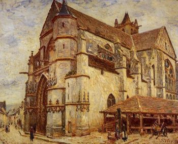 The Church at Moret Icy Weather  1893 | Alfred Sisley | Oil Painting