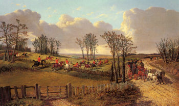 A Hunting Scene With A Coach And Four on the Open Road | Jr John Frederick Herring | Oil Painting