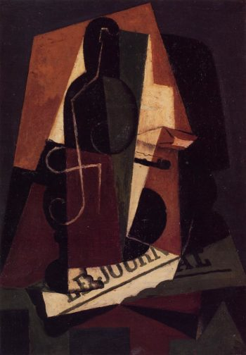 Bottle and Glass 1917 | Juan Gris | Oil Painting