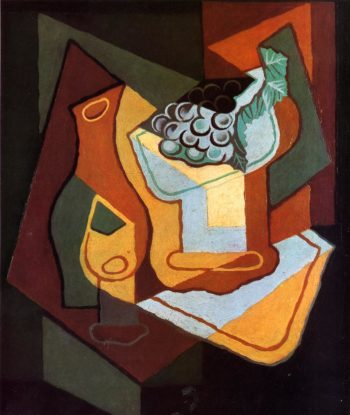 Bottle Wine Glass and Fruit Bowl 1921 | Juan Gris | Oil Painting