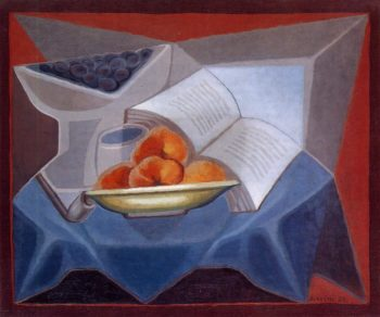 Fruit and Book 1925 | Juan Gris | Oil Painting