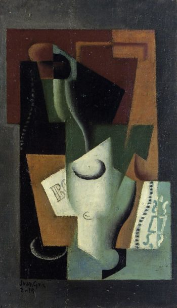 Glass and Bottle 1919 | Juan Gris | Oil Painting
