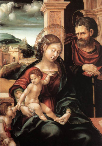 Holy Family with the Child St John 1525 | Hans the elder Burgkmair | Oil Painting