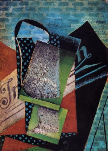Still Life (dedicated to Andre Salmon) 1915 | Juan Gris | Oil Painting