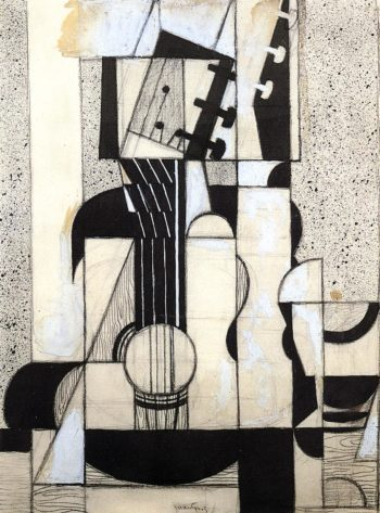 Still Life with Guitar 1912-1913 | Juan Gris | Oil Painting