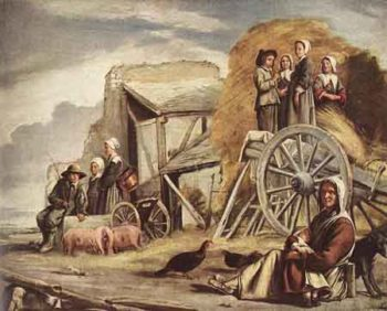 The Cart or Return from Haymaking 1641 | Louis Le Nain | Oil Painting
