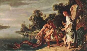The Angel and Tobias with the Fish 1625 | Pieter Lastman | Oil Painting