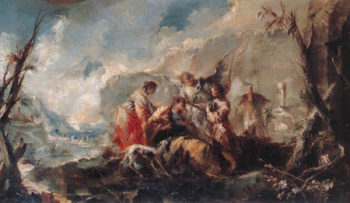 The Healing of Tobiass Father 1750 | Giovanni Antonio Guardi | Oil Painting