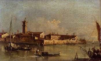 View Of The Island Of San Michele Near Murano Venice | Francesco Guardi | Oil Painting
