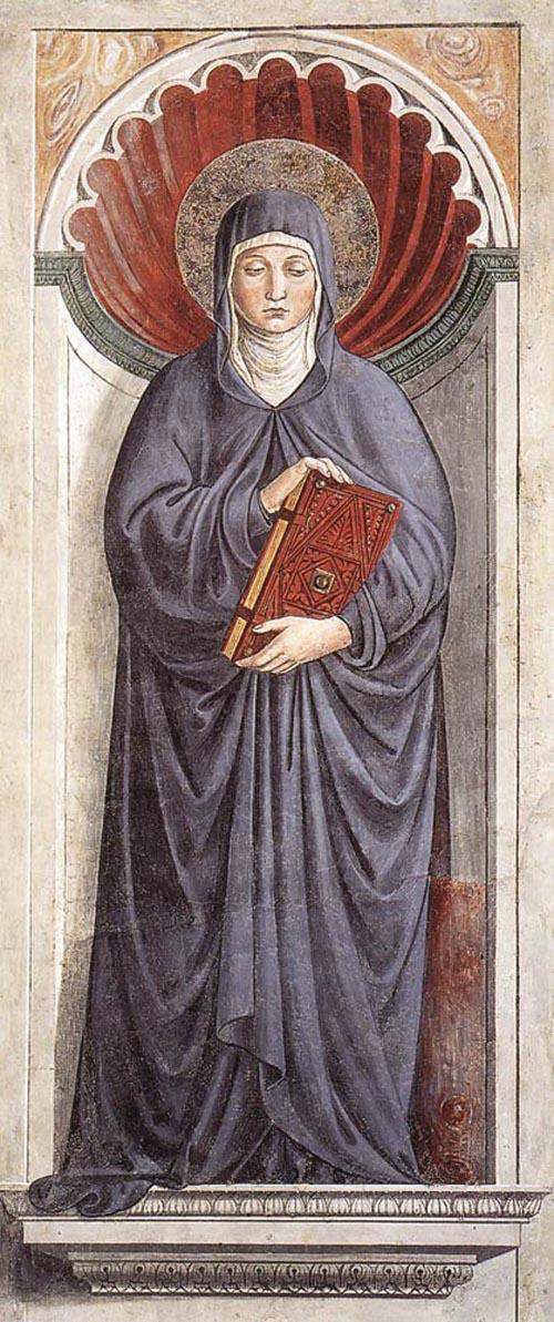 St Monica 1464 1465 | Benozzo di Lese di Sandro Gozzoli | Oil Painting