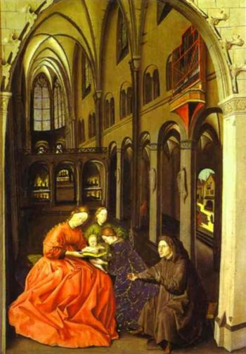 Madonna And Saints In A Church 1440-1445 | Konrad Witz | Oil Painting