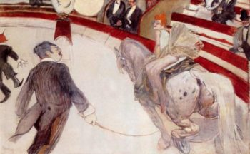 At the Cirque Fernando The Ringmaster 1887-1888 | Henri Toulouse Lautrec | Oil Painting