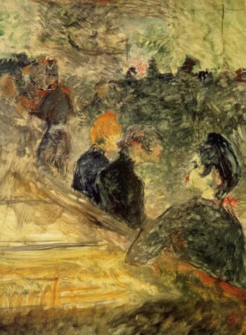 A Ball at the Moulin de la Galette 1889 | Henri Toulouse Lautrec | Oil Painting