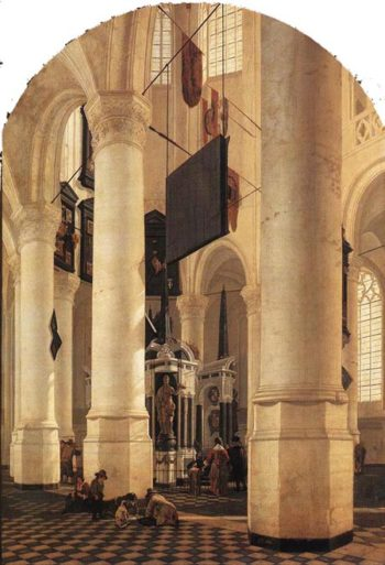 New Church in Delft with the Tomb of Willem the Silent 1650 | Gerard Houckgeest | Oil Painting