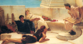 A Reading From Homer | Lawrence Alma-Tadema | Oil Painting