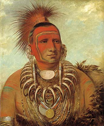 Shon ta yi ga Little Wolf a Famous Warrior 1844 | George Catlin | Oil Painting