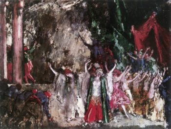 Theatrical Scene (Finale) 1923 | Janos Vaszary | Oil Painting