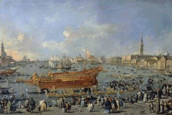 The Doge On The Bucentaur At The Venice Lido On Ascension Day 1766 | Francesco Guardi | Oil Painting