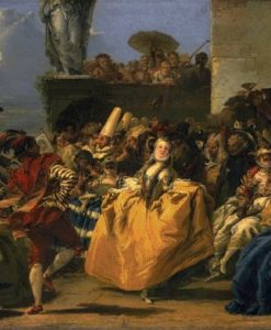 Carnival Scene Also Known As The Minuet 1750 | Gian Domenico Tiepolo | Oil Painting