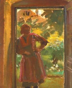 Woman Standing in a Door 1933 34 | Janos Tornyai | Oil Painting