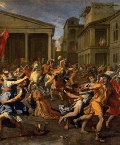 The Rape Of The Sabines Circa 1637-1638 | Nicolas Poussin | Oil Painting