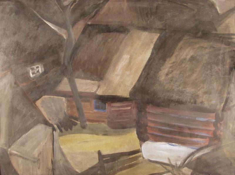 Village | Erzsebet Vaszko | Oil Painting