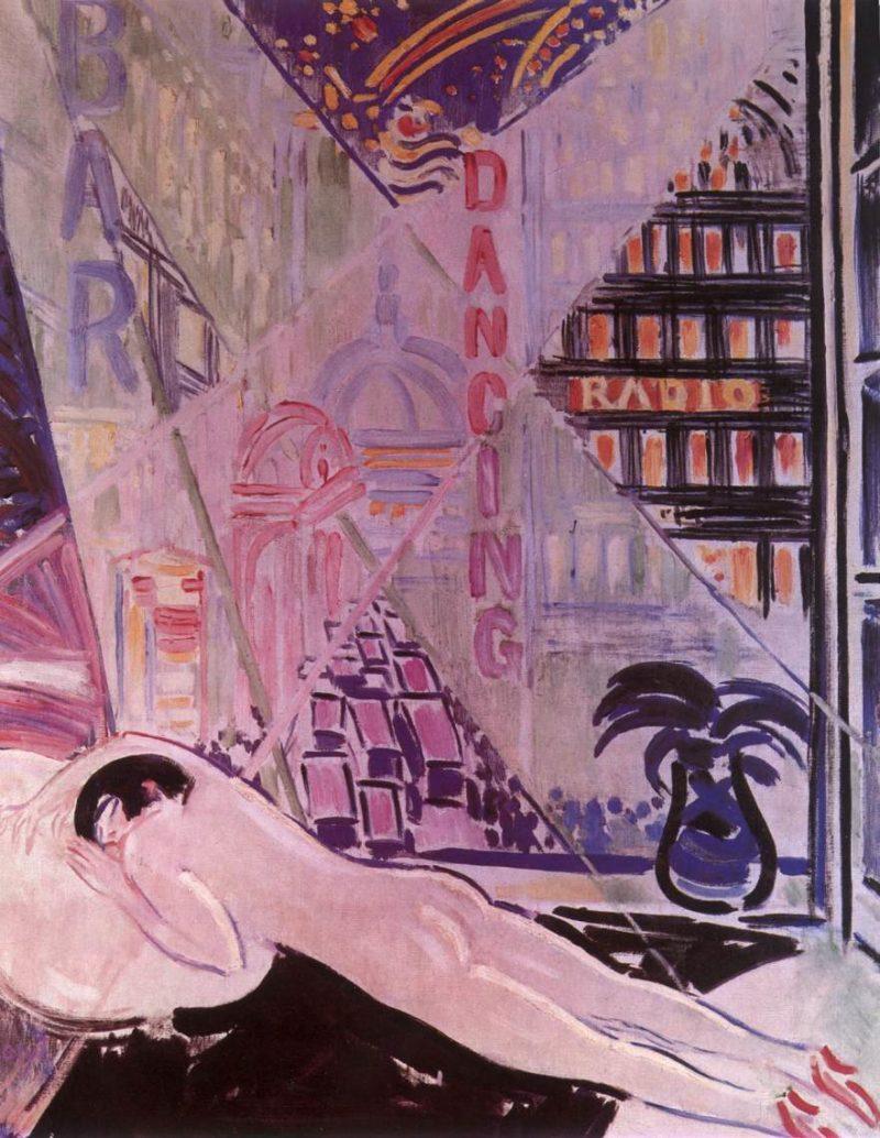 Lights of a Big City 1930 | Janos Vaszary | Oil Painting