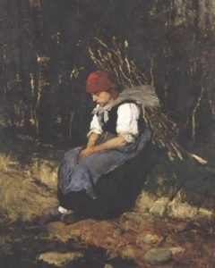 Woman with Brush-wood 1873 | Mihaly Munkacsy | Oil Painting