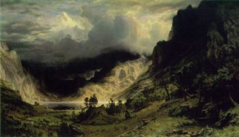 A Storm In The Rocky Mountains Mount Rosalie 1866 | Albert Bierstadt | Oil Painting