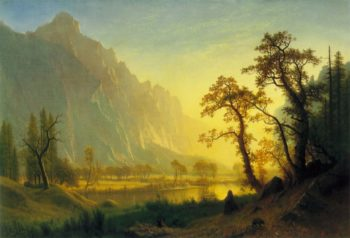 Sunrise Yosemite Valley | Albert Bierstadt | Oil Painting