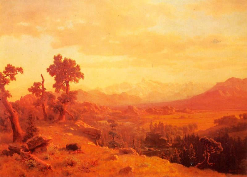 Wind River Country 1860   Albert Bierstadt   Oil Painting