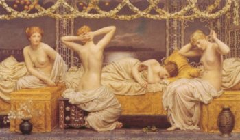 A Summer Night 1890 | Albert Moore | Oil Painting