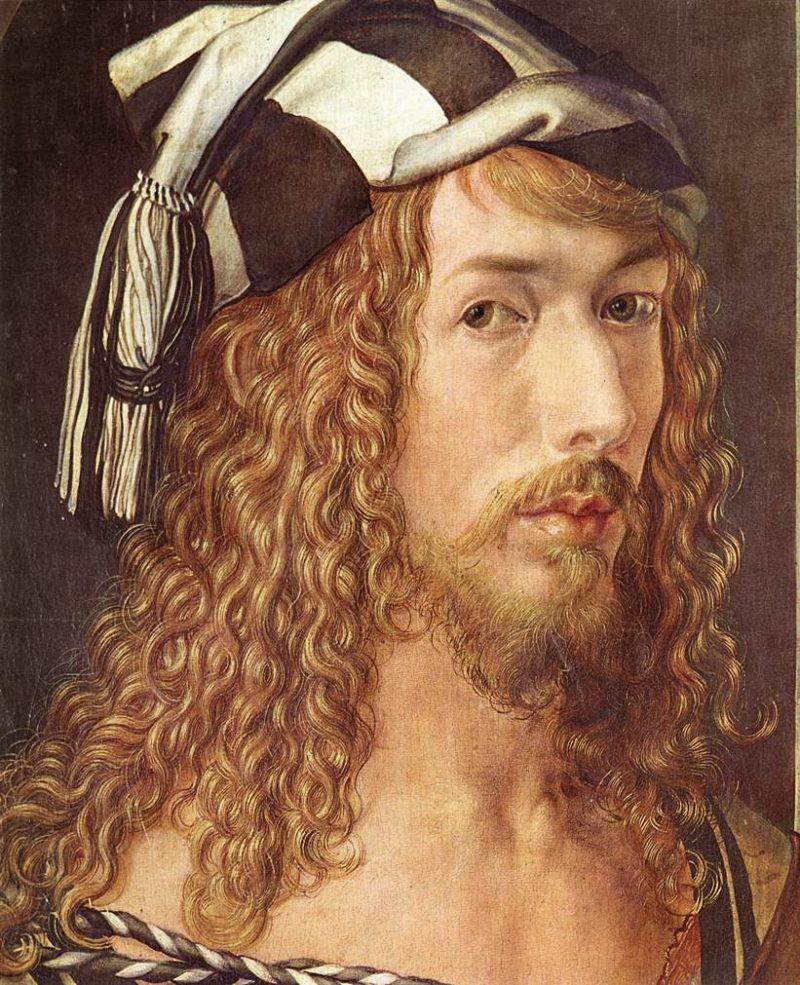 Self Portrait At 26 (Detail) 1498 | Albrecht Durer | Oil Painting