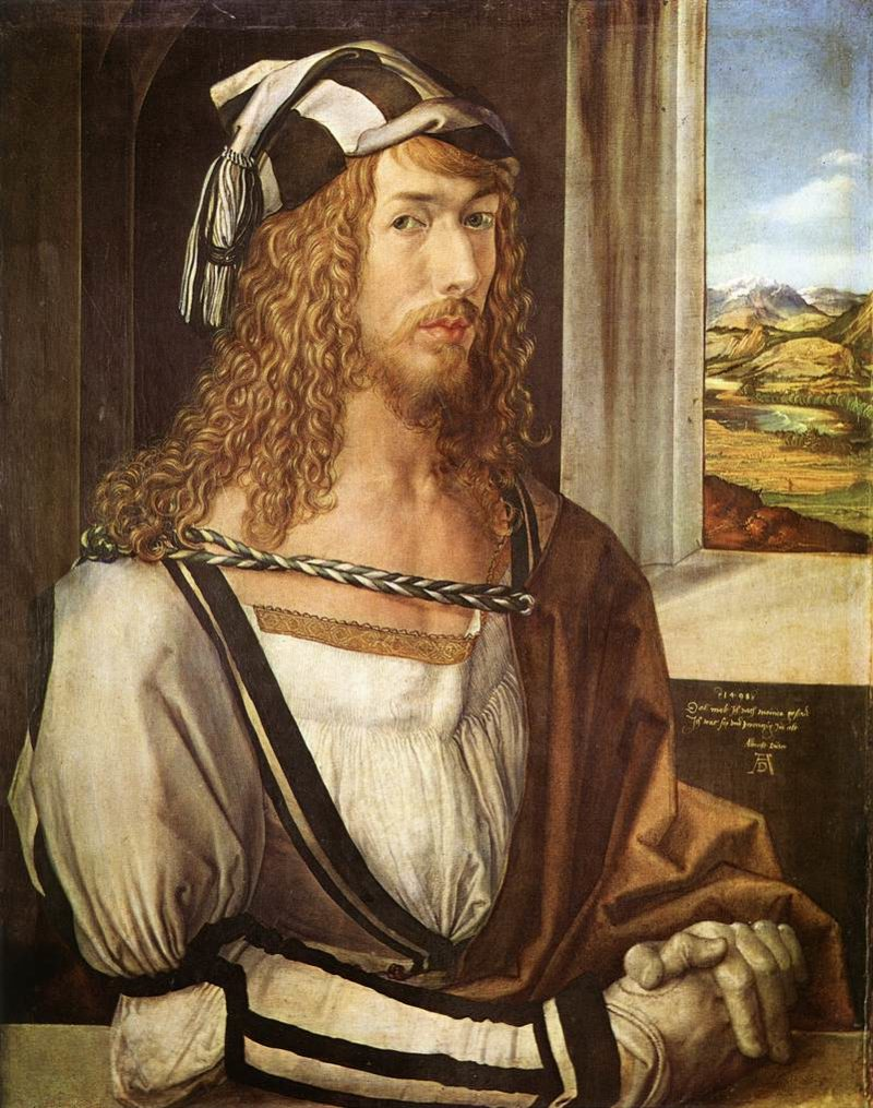 Self Portrait At 26 1498   Albrecht Durer   Oil Painting
