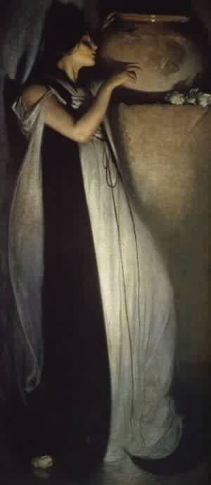 Isabella And The Pot Of Basil 1897 | John White Alexander | Oil Painting