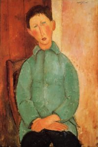 Boy in a Blue Shirt 1918 | Amedeo Modigliani | Oil Painting