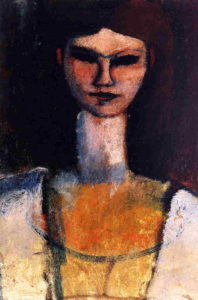 Bust of a Young Woman 1910 1911 | Amedeo Modigliani | Oil Painting