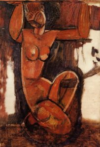 Caryatid 1911 1912 | Amedeo Modigliani | Oil Painting