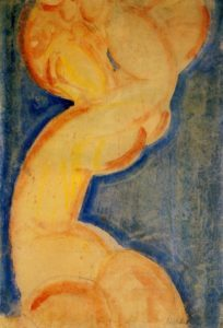 Caryatid 1913 | Amedeo Modigliani | Oil Painting