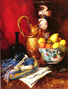 A Still Life With A Bowl Of Fruit | Antoine Vollon | Oil Painting