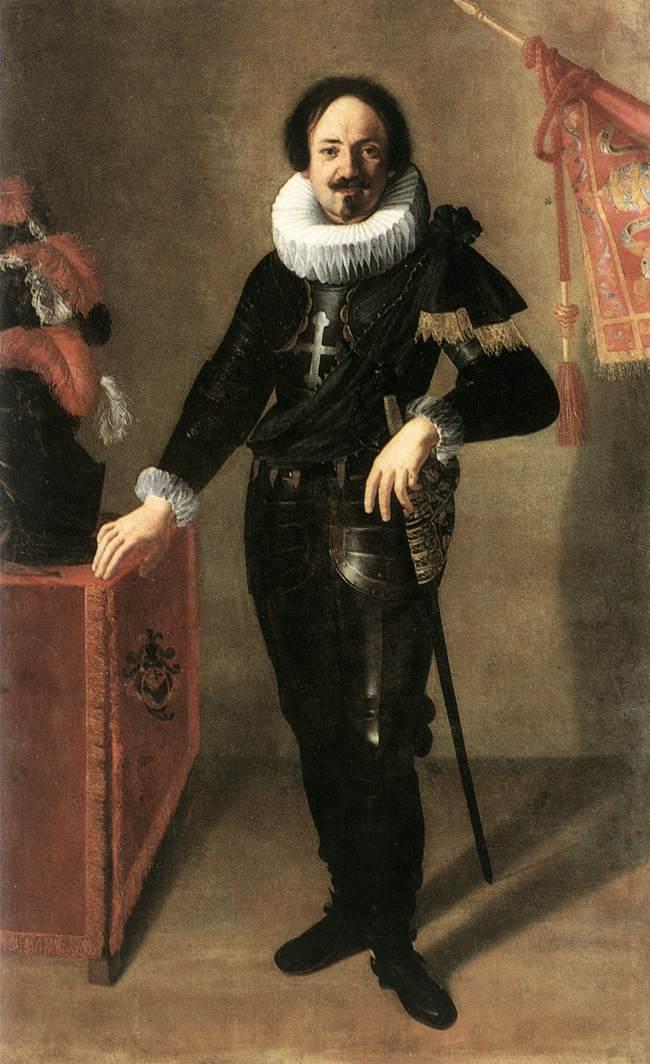 Portrait Of A Condottiero 1622   Artemisi Gentiles   Oil Painting