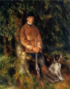Alfred Berard and His Dog 1881 | Pierre Auguste Renoir | Oil Painting