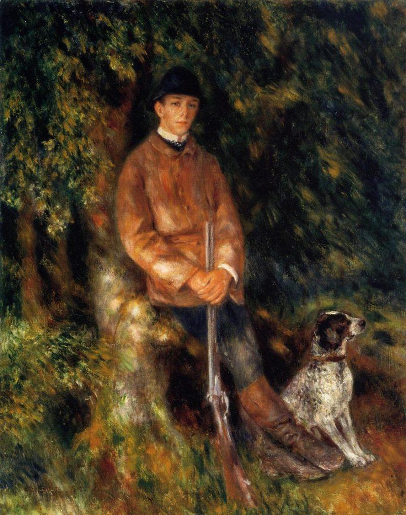 Alfred Berard and His Dog 1881 | Pierre Auguste Renoir | Oil Painting