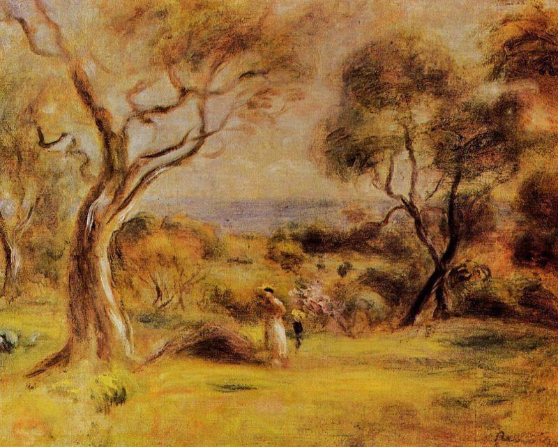 A Walk by the Sea 1915 | Pierre Auguste Renoir | Oil Painting